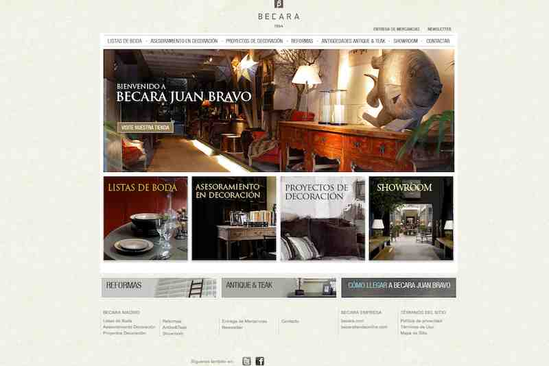 web de decoración becara