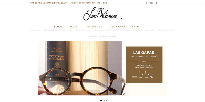 aca69cfa40 Aprender de otros: Lord Wilmore, gafas online | The Marketing Band ı ...